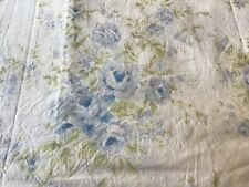 Simply Shabby Chic BRITISH ROSES shower curtain blue green FLORAL Rachel Ashwell
