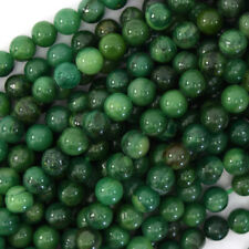 "Natural Green African Jade Round Beads 15.5"" Strand S3 4mm 6mm 8mm 10mm 12mm"
