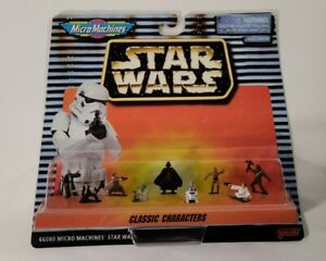 Galoob Micro Machines Star Wars Classic Characters 9 Mini Figures SEALED 1996