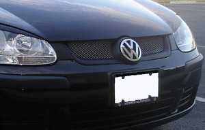 Front upper Mesh car grill grille compatible with VW Golf mk 5 2003-2008 mk5