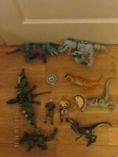 JURASSIC WORLD JW DINOSAURS DILOPHOSAURUS LIGHTS SOUNDS JOB LOT & 2 PARK FIGURES