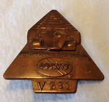 1979 Indianapolis Indy 500 Motor Speedway Bronze Pit Badge Pin Rick Mears Win