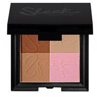 SLEEK Bronceador e Iluminador, BRONZE BLOCK 4Shades Makeup Bronzer + Highlighter