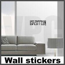 wall stickers led zeppelin musica adesivi soggiorno camera  letto specchio