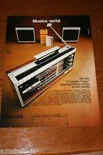 BE6=1972=PHILIPS RADIO REGISTRATORE PORTATILE=PUBBLICITA'=ADVERTISING=WERBUNG=