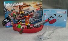 Playmobil 5137 Pirates Rowboat with Shark Complete + Box VGC