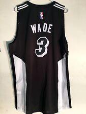 Adidas Swingman 2015-16 NBA Jersey Miami Heat Wade Black Fashion sz XL