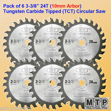 6x 3-3/8-inch 10mm Arbor Carbide Tip Circular Saw Blade fit Craftsman Trak Cut