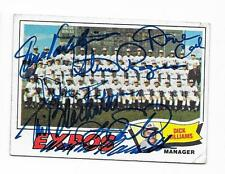 1977 TOPPS EXPOS TEAM CARD # 647 AUTOGRAPHED SIGNED BY 7 ROGERS CASH VALENTINE