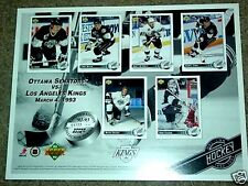 Los Angeles Kings Upper Deck 92-93 Limited Edition Sheet    Stanley Cup Finals