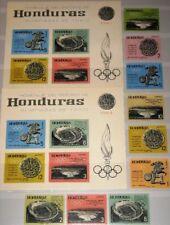 HONDURAS 1964 607-15 Block 6 A-B C336-44 Olympia Olympics Tokyo Ancient Art MNH