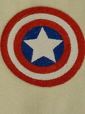 Personalized Embroidery Fleece Baby Blanket With Captain America Logo
