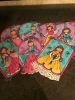 Cute Whimsical Princess - Lot of 7 - Iron-On Fabric Appliques