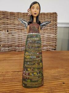 """Kelly Rae Roberts 9"""" LOVE ANGEL Resin Figurine """"Soul Sisters"""""""