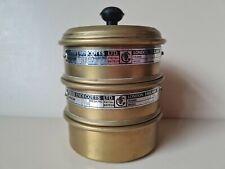 More details for vintage brass endecotts ltd sieves with bottom & lid pat no 667924