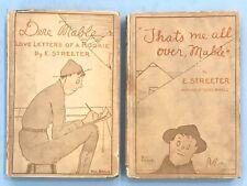 "Original Set of 2 WW1 E. Streeter ""Dere Mable"" Hardcover Books (1918, 1919 pub)"