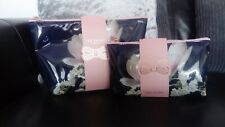 Ted Baker Ladies Floral Small & Large Duo PVC Set Cosmetic Makeup Washbags