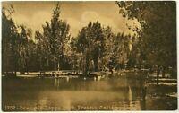 1900's 1910's Lake View Zapps Park Fresno California CA Sepia Vintage Postcard