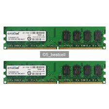 NEW 4GB 2X2GB PC2-6400 800mhz 240PIN DIMM pc6400U Desktop Memory Ram Pair
