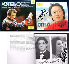Placido Domingo Cheryl Studer Myung-Whun Chung SIGNED Verdi Otello Leiferkus 2cd
