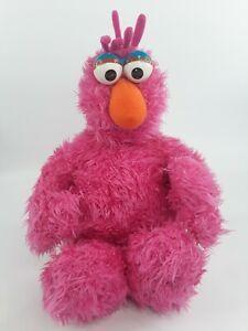 "Sesame Street Place Workshop TELLY Monster Muppet Pink Plush Doll 17"""