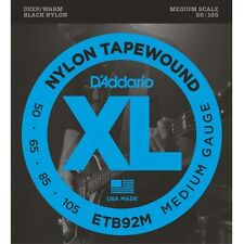 D'Addario ETB92M Nylon Tapewound Medium Gauge Bass Strings 50-105 Medium Scale