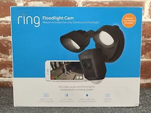 Ring Floodlight Camera Motion-Activated HD Security Cam 2-Way Talk, Black, Alexa