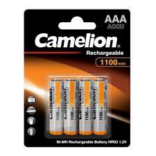 4 x NiMH-Akku 1,2 Volt  1100 mAh Micro AAA HR03 wiederaufladbar von Camelion