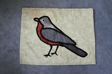 Handmade quilted Robin hanging