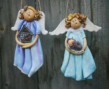 handmade angel polymer c lay  figurine handwork