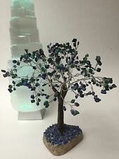 Lapis And Malachite Tree Of Life Malachite And Lapis Gem Tree Wire Wrapped Tree.