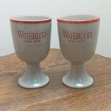 Waterloo Anno 1815  Belgium Beer Ceramic Chalice Drinking Cup Stoneware x2