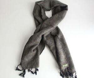 Traditional Hand Loomed Gray Brown Woolen Muffler
