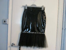 PVC & NET SKIRT SIZE 6   BY PHAZE NEW & TAGS SEXY GOTHIC PUNK STEAMPUNK
