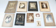 BEAUTIFUL VINTAGE PORTRAITS OF VERY WELL-DRESSED CHILDREN - SET OF 10