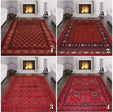 Brand New Ruby Afghani Style Khorasan Bokhara Rug Persian Style Rug Small-XLarge