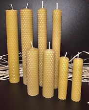 8 PCS MIX BEESWAX HAND ROLLED CANDLES