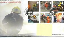 GB-Primer Día Cubierta Fdc-Commems -2009 - Fire & Rescue-PMK Manguera, M Mowbray