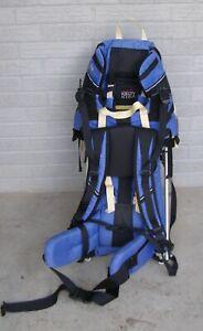 Kelty Kids Trek Model Baby Carrier Backpack Blue and Black Yellow Straps