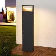 LED-Sockelleuchte Kjella Wegeleuchte Aluminium dunkelgrau außen Lampenwelt