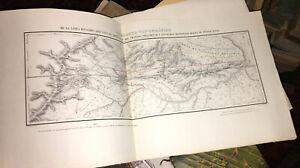 GUYANES.CARTE DU PARTAGE ENTRE LE BRÉSIL ET LA GUYANE FRANÇAISE EN 1750.
