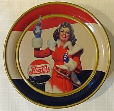 1995 PEPSI COLA TIN  VINTAGE ICE SKATER by OLIVE CAN CO & PEPSICO, INC. GREAT!