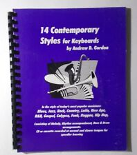 *  14  CONTEMPORARY STYLES KEYBOARD SONGBOOK- GREAT BLUES,ROCK& JAZZ WITH CD