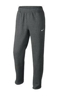 Nike Mens Classic Open Hem Fleece Sweatpants Gray 611458-071 pockets Size L