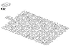 Used LEGO® - Plates - White - 3021-05 - 2x3 (50Stk) - Platte - Weiß