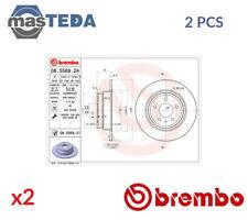 2x BREMBO REAR BRAKE DISCS SET BRAKING PAIR 08556921 P NEW OE REPLACEMENT