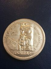 THE CANADA COMMEMORATIVE OLD ONE SILVER DOLLAR 1958 COIN.# 3.