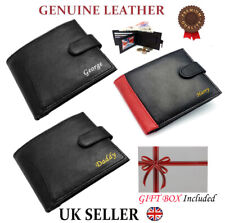Personalised Mens Wallet Genuine Leather Soft High Quality Slim Card Coin Purse
