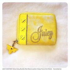 💛🌻🐝JUICY COUTURE Yellow Daisy Bee Purse Mini Wallet Zip Around FAST📮💛🌻🐝
