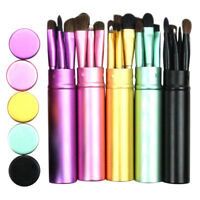 NEW 5Pcs Professional Makeup Eye Eyeshadow Brush Brushes Cosmetic Set+Round Tube